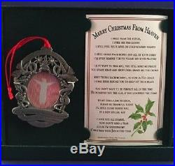 Merry Christmas from Heaven Pewter Photo Ornament Loved One Tree Decoration NEW
