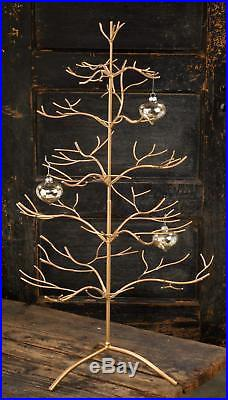 Metal Christmas Tree 5 Tiers 36 In. Holiday Home Decoration Ornament Display