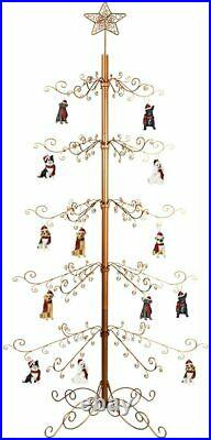 Metal Ornament Tree Display Stand Wrought Iron Christmas Trees 174 Hook 84 Gold
