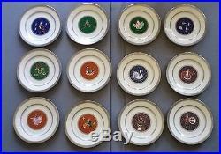 Mikasa 12 Days of Christmas Platinum Trim Porcelain Plates 1999