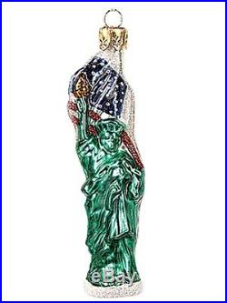 Miniature Statue of Liberty Polish Glass Christmas Ornament New York Decoration