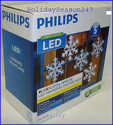 Motion Chaser Lighting Effect LED Snowflake Blue/Cool White Christmas Lightshow