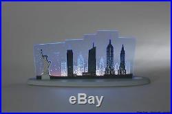 Motivleuchte New York Länge ca 47cm NEU Schwibbogen Lichterbogen LED USA Amerika