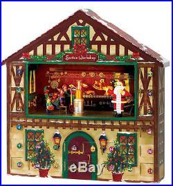 Mr. Christmas Animated Figurine Advent House, Holiday Decor Snowman Xmas (47332)