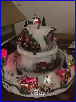 Mr. Christmas Holiday Mountain Spieluhr Weihnachtszug Winterzug Weihnachtsdeko