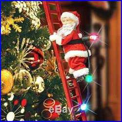 Mr. Christmas Super Climbing Santa 40 Tall Animated and Plays Christmas Carols
