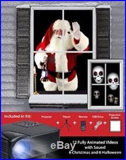 Mr. Christmas Virtual Holiday Projector Kit, Black #386209