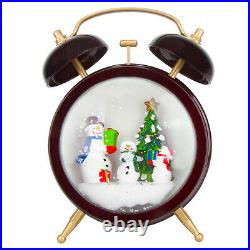 Musical Christmas Snow Globe LED Lighted Battery Operated Swirling Glitter Water