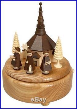 Musikdose natur Seiffener Kirche Kurrende natur 16,5 cm Spieluhr NEU Weihnachten