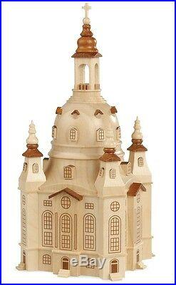 NEU Frauenkirche Dresden M1500 Naturholzbausatz (100-teilig) 10x18cm Erzgebirge