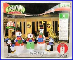 NEW 10 ft Gemmy Musical Lightshow Christmas Airblown Inflatable Blow-up SEALED