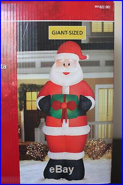 NEW 11.5 FOOT SANTA CLAUS Gift Christmas Airblown Inflatable Blow Up Yard Decor