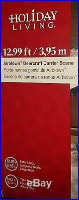New 13 Ft Christmas Deercraft Carrier Sleigh Airblown