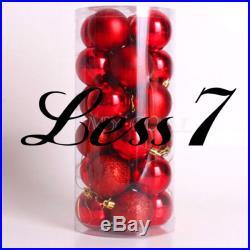 NEW 24pcs Christmas Balls Baubles Xmas Tree Hanging Ornament XMAS Decor