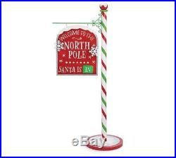 NEW 43 Welcome to the North Pole Standing Christmas Sign 9731486