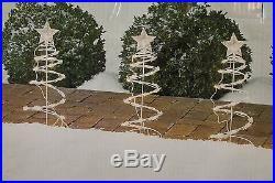 NEW 5 LIT PATHWAY SPIRAL TREES PRELIT CHRISTMAS INDOOR OUTDOOR LIGHTS DECOR