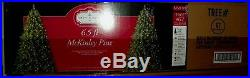 NEW 6.5' McKinley Pine Prelit Clear Light Christmas Tree White Lights NIB