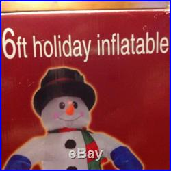 NEW 6' Holiday Inflatable Snowman Lights Up Enchanted Forest Menards Christmas