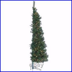 NEW 7′ Tiffany Pine Clear Prelit Wall Half Artificial Christmas Tree 3804-70C