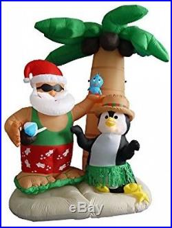 NEW 7 feet Airblown Inflatable Santa Claus Outdoor Christmas Holiday Decoration