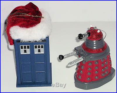 New Bbc Doctor Who Santa Hat Tardis Amp Glittery Red Dalek
