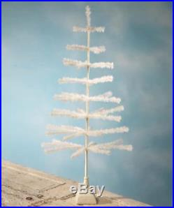 NEW Bethany Lowe 54 Ivory Christmas Feather Tree with Glittered Base LG7222