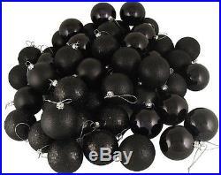 NEW Black Xmas Christmas Tree Baubles Ornament Party Balls 96pcs Decorations