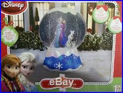 New Christmas Disney Frozen Elsa Olaf Snow Globe Inflatable Airblown Yard Decor