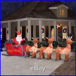 NEW Christmas 16 ft Santa In Sleigh Airblown INFLATABLE YARD HOLIDAY DECOR