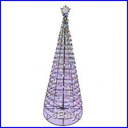 NEW- Christmas Holiday 6 ft. Pre-Lit LED Tree with Star & Color Changing Lights