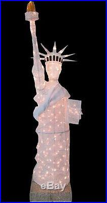 NEW Christmas Holiday 7 FOOT Statue of Liberty Lighted Mesh Yard Decoration