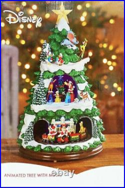 NEW Disney Animated Christmas Tree with 8 Christmas Songs 17 Inches Tall