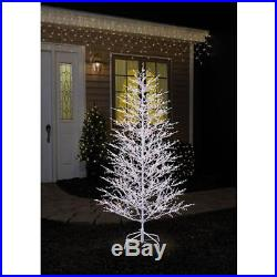 NEW GE 5-ft Pre-Lit Winterberry White Artificial Christmas Tree with LED Lights