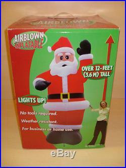 NEW Gemmy 12′ SANTA CLAUS Christmas Lighted Airblown Inflatable Yard Decor