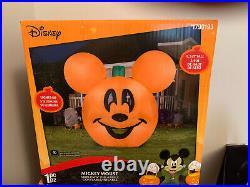 NEW Gemmy Disney 9.5ft Halloween Mickey Mouse Jack O Lantern Pumpkin Inflatable