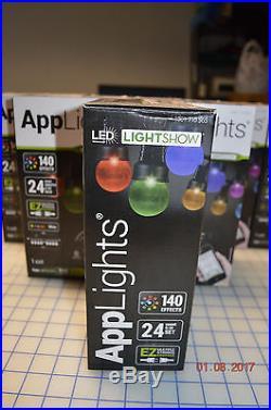 New Gemmy Led Lightshow 24 Applights G 30 Set Bundle Lot 7