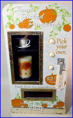 NEW HTF Hand Picked Pumpkins Display Cabinet Fall Decor Autumn RD Display