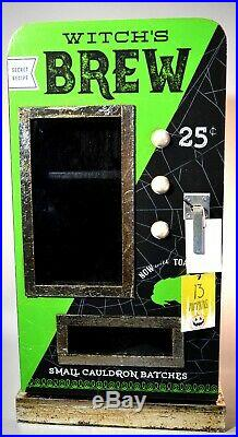 NEW HTF Witch's Brew Halloween Display Cabinet Green Decor Rae Dunn Witches Brew