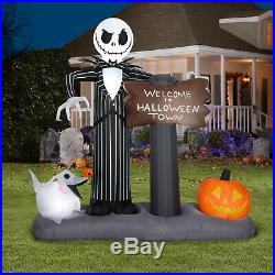 NEW Halloween Nightmare Before Christmas Jack Skellington Airblown Inflatable
