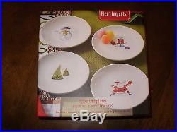 NEW IN BOX SET OF 4 APPETIZER PLATES CHRISTMAS HOLIDAY from PIER 1