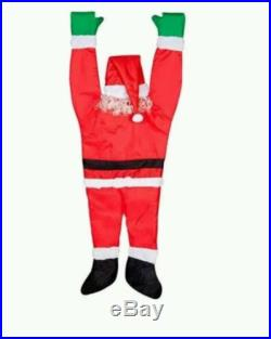 NEW LIFE SZ HANGIN ON SANTA CHRISTMAS IN/OUTDOOR HOLIDAY DECOR/PROP