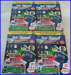 NEW LOT OF 4 Star Shower Motion Laser Light PARTY HOLIDAY CHRISTMAS MOOD LIGHTS