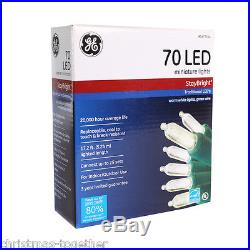 NEW Lot of 10 -GE StayBright 70-Count White Mini LED Christmas String Lights