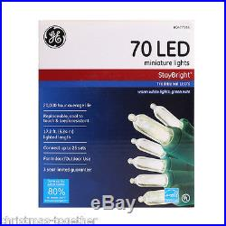 New Lot Of 10 Ge Staybright 70 Count White Mini Led