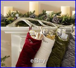 NEW Pottery Barn Antler Stocking Holder Christmas