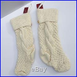 Knitting Pattern For Chunky Christmas Stocking : NEW Pottery Barn CHUNKY KNIT STOCKINGS stocking IVORY SET 4 CHRISTMAS FREE SH...