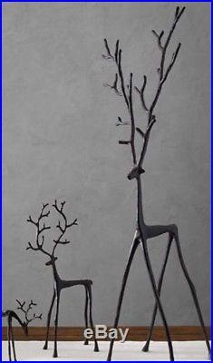 NEW Pottery Barn SCULPTED Bronze Reindeer Object X-LARGE 39 Centerpiece