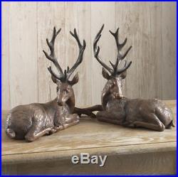 NEW! RAZ Imports15 Resin Mahogany Brown DeerSet of 2ChristmasReindeer/Buck