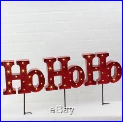NEW! RAZ Imports17.5 Christmas Lighted Ho Ho Ho StakeSet 3B/OYard Light