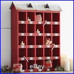 NEW Raz 23 Red House Christmas Advent Calendar Countdown Box 3825917